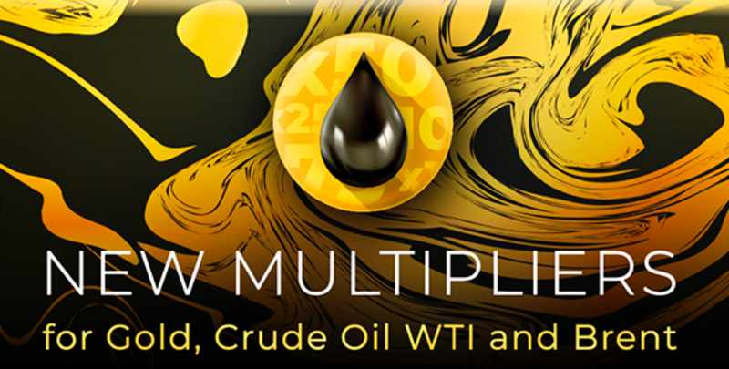 New multipliers for oil and gold (for non-regulated traders)