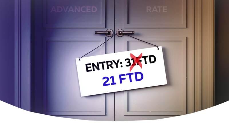 New advanced revenue share requirement – 21 FTD
