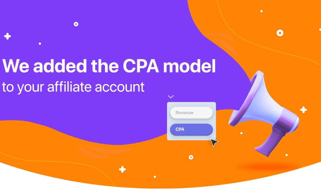 IQOption has added the CPA model to affiliate account